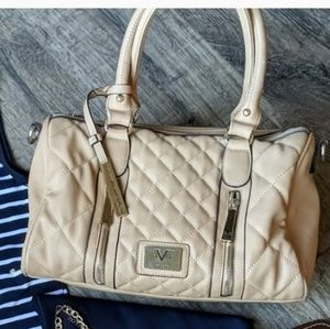 Tan Satchel Bag with Crossbody Strap Included